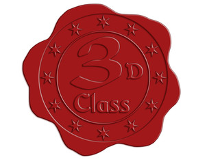 Third Class Red Wax Seal