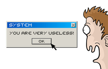 Useless character and computer message