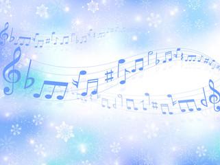 音符 雪 背景