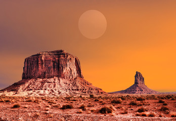 Warm Skies Monument Valley