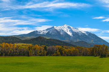Mount Sopris Elk Mountains Colorado - Fall colors