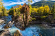 Autumn in Crystal Mill Colorado Landscape - 73184706