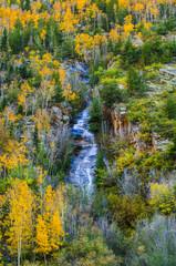 Colorado Fall Colors High Mountain water cascade
