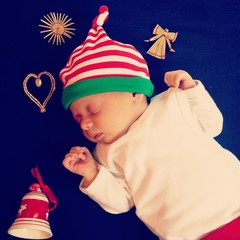 Christmas baby beautiful background