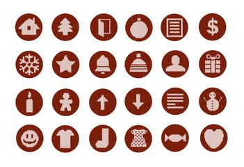 christmas knitwear icons