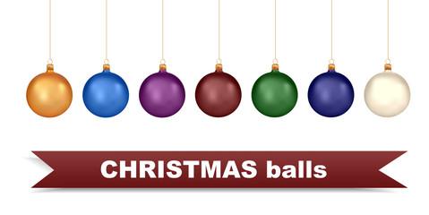 Christmas balls template set