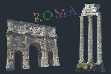 Rome view illustration
