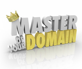 Master of Your Domain Crown on Word King Leader CEO