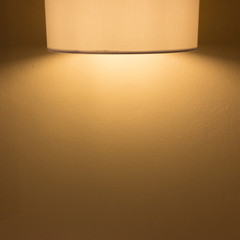 lamp light on mortar cement wall background