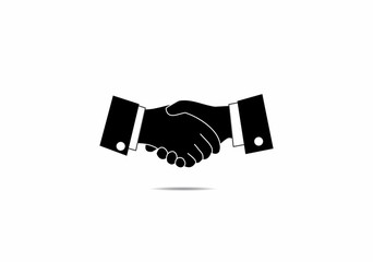 Handshake, teamwork, symbol, logo, icon, vector