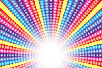 背景壁紙素材(虹色小球の放射, 虹, 虹色, レインボー, 七色)