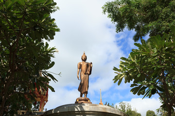 Buddha statue with blue sky