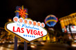 Leinwanddruck Bild - Las vegas sign and strip street background