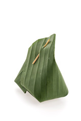 Banana leaf packaging sticky rice