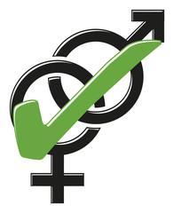 Gender Geschlechter Paare erwünscht 3D Vektor