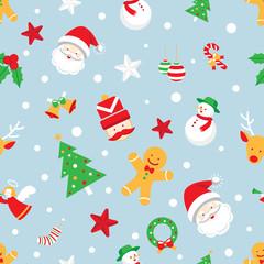 Seamless Pattern : Christmas Objects
