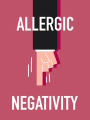Word ALLERGIC NEGATIVITY