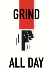 Word GRIND ALL DAY