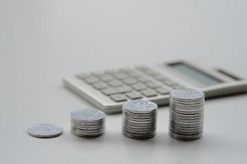 1円玉と電卓