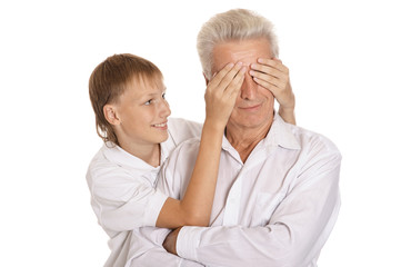 Boy with his grandfather
