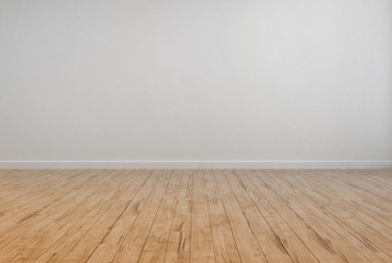 Empty House Room with White Wall