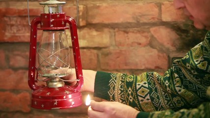 Kindle kerosene  lamp
