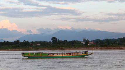Boat in Mekong river