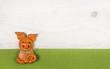 canvas print picture - Glückliches Schwein als Glückwunschkarte zum Geburtstag