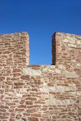 Detail einer Burgmauer