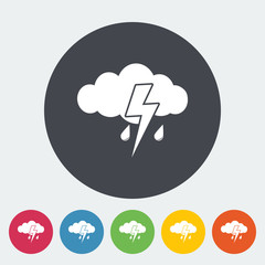 Storm flat icon.