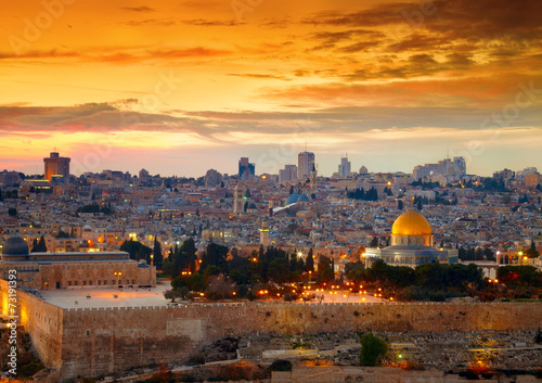 Deurstickers Midden Oosten View to Jerusalem old city. Israel