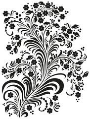 A  decorative flowers in folk style