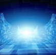 Blue technology Background Abstract and bright flare