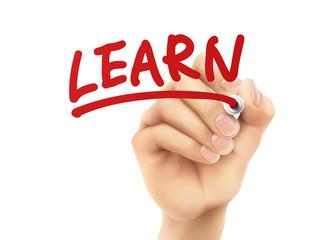 learn word written by hand