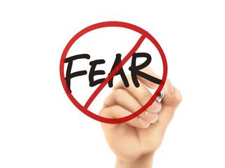 no fear words written by hand