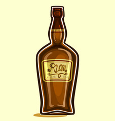 Rum in the bottle
