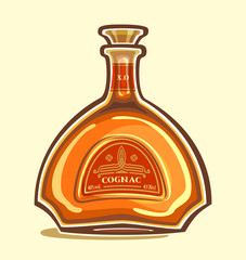 Cognac in the bottle