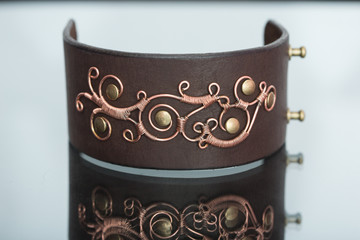 bracelets. ornaments of copper wire
