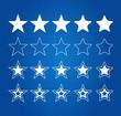 Five Star Quality Award Icons On Blueprint