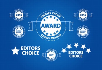 Editors Choice Quality Product Award Blueprint Icons