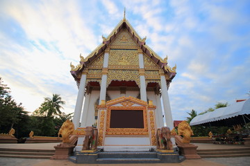 Temple at Wat Buraparam ,Ampur Mung ,Surin