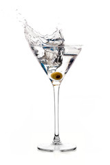 Dry Martini Cocktail with Big Splash