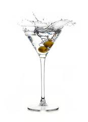 Dry Martini Cocktail with Big Splash