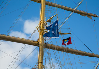 Clipper Mast with Antigua Flag