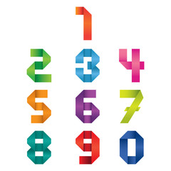 Numbers Set : Origami Style