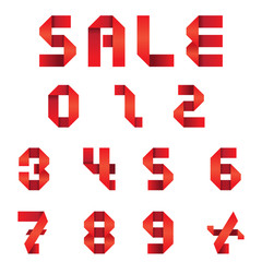 Sale Text & Numbers Set : Origami Style