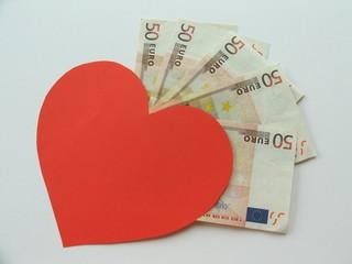 amor comprado, amor interesado