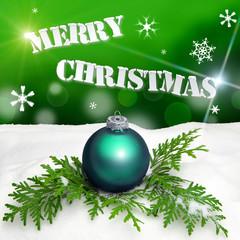 Christmas background - Christmas Ornament green - Snow