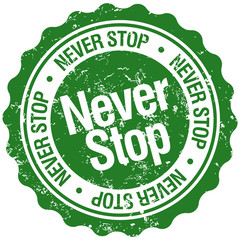 never stop stamp