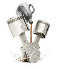 Engine pistons and motor oil